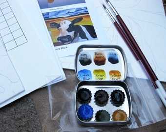 Watercolor Painting Kit - New Mexico Moo