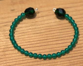 Green Wire Wrap Bracelet