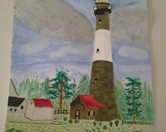 The light house in Tybee, Georgia, USA