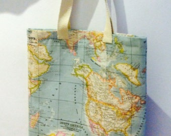 TOTE BAG WORLD MAP