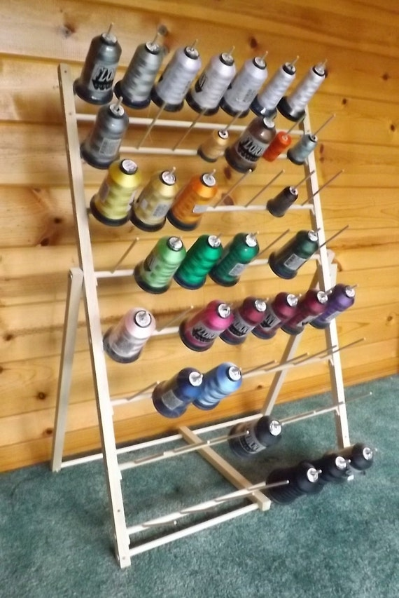 Items Similar To Embroidery Thread Spool Storage Rack On Etsy
