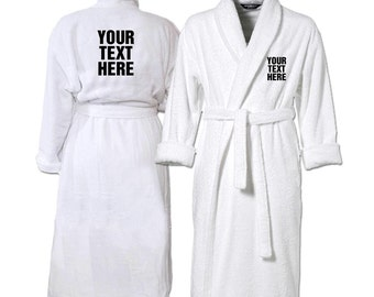 Personalised Embroidered Bathrobes Deluxe Dressing Gowns for Fathers Day Birthday Gift for Dad
