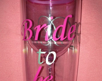 Monogrammed Tumbler with Message and Date