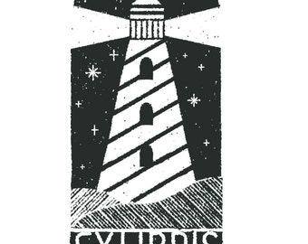 Lighthouse Ex Libris Rubber Stamp