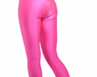 High waisted spandex leggings Neon
