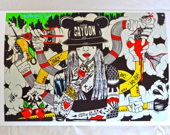 Crazy GaYoon Print/Wall Art High Quality Psychedelic 8 x 11 (30x20cm)