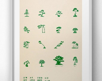 Bonsai - Risograph Print