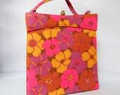 Beautiful Vintage FLORAL PB Handbag 1960's SHABBY Chic FLoWeR PoWeR Purse