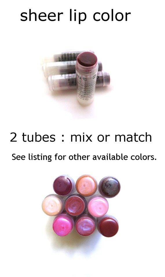 Lip Tint 2 Blackberry Lip Tint lip balm Sheer Lip Color Natural sunkiss look any 2 lip tints Mix or Match girlfriend gift for her wife gift