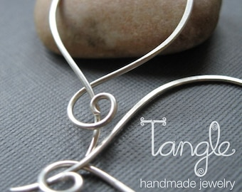 Sterling Silver Hoops with a Twist