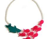 Shark and Fish Statement Necklace