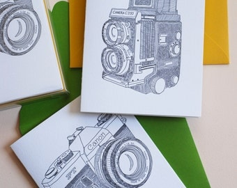 Vintage Camera Box Set of Note Cards