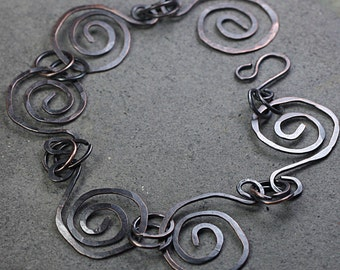 Copper Spiral Bracelet Copper Jewelry