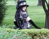 Minx - Gothic Victorian top hat - Made to order