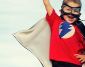 Little Hero Cape - Black and Silver - Blank