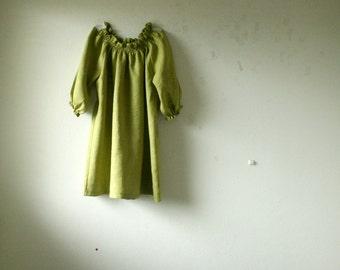 LINEN BLOUSE / mustard / womens linen clothing / flax shirt / australia / summer top / made in australia / plus size / handmade / pamelatang