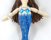 Blue Mermaid Doll - Brunette Mermaid