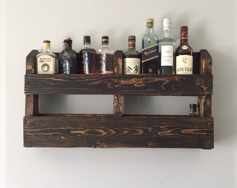 Recycled Wall Mounted Pallet Wood Bar with hidden door