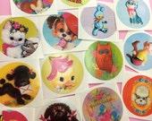Cute Vintage Kitsch Animal Stickers Set