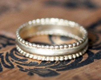 Yellow gold wedding band, yellow gold ring, 14k gold ring, recycled gold wedding band, vintage lace style wedding band, unique made to order