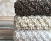 Cotton Crochet Dishcloth/Wascloth
