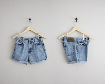 high waisted denim shorts / Calvin Klein jeans / cut off denim shorts