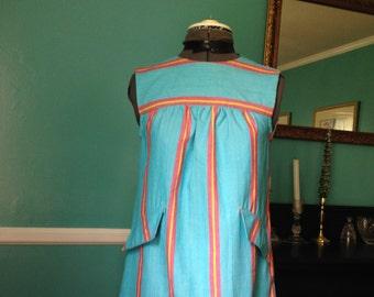 20% off sale XS Linen Cotton striped Beach dress/Ready to Ship