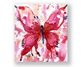 Butterfly Joy No. 7 ... Original abstract watercolor aceo art ooak painting by Kathy Morton Stanion  EBSQ