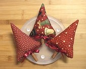 Red Christmas Tree Bowl Filler Ornaments Holiday Decorations