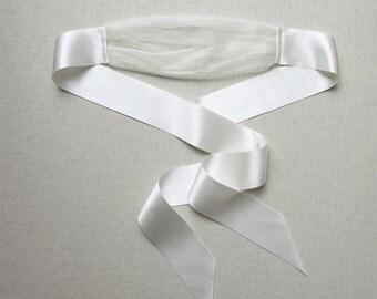 Covet pure silk satin and silk tulle blindfold eye veil eye mask wedding lingerie