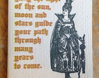 pagan birthday wish letterpress card
