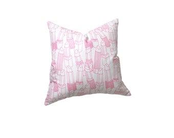 SALE! Lipsticks Decorative Pillow Cover Pink