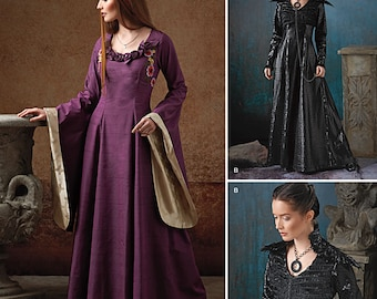 Diy Sewing Pattern-Simplicity 1137-Medieval Gown Gothic Ren Faire-Plus Size