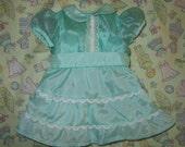 So So Sweet American Girl Fancy Aqua Ruffled Party Dress