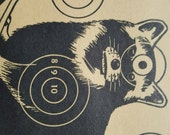 Items similar to vintage shooting target raccoon target cabin decor sears targets cabin wall Rustic home decor target