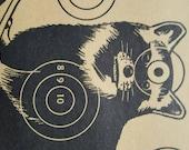 Items Similar To Vintage Shooting Target Raccoon Target Cabin Decor Sears Targets Cabin Wall