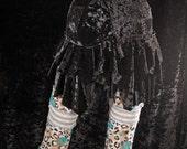 Gypsy Wrap Skirt, black velvet hip belt, shimmy skirt, crushed velvet ruffle bustle, Tribal Belly Dance, tattered, noir, boho layer skirt