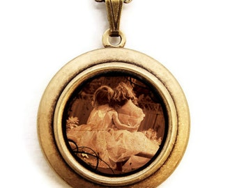 Two Sisters - Photo Locket Necklace - Collaboration with Julie Chen of lifeverse