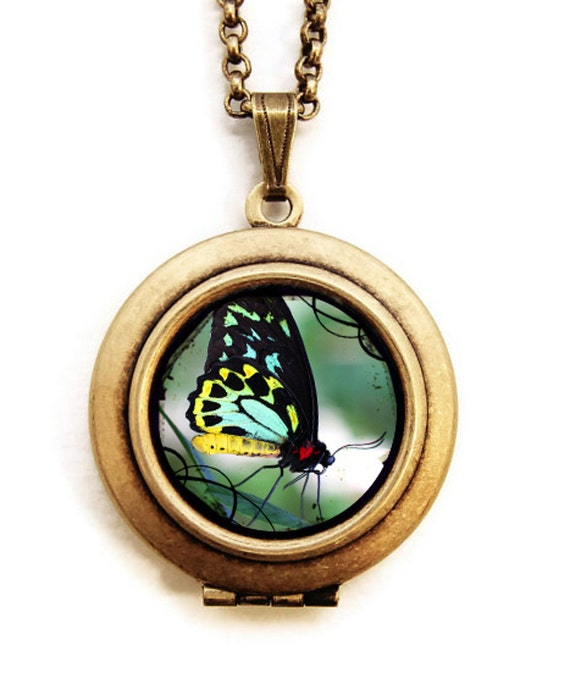 New Creation - Butterfly Photo Locket Necklace - Collaboration with Julie Chen of lifeverse