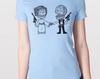 Star Couple Womens T-Shirt Small, Medium, Large, XL in 7 Colors