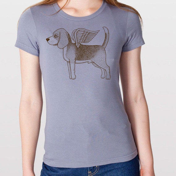 Flying Beagle Womens T-Shirt Small, Medium, Large, X-Large in 6 Colors