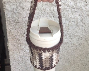 Bicycle Cup Holder Coffee Cup Sling Sleeve Cozy with Carrying Handle