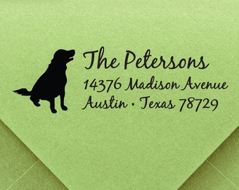 Dog Stamp, custom ADDRESS STAMP with proof from USA, Eco Friendly Self-Inking stamp, return address stamp, custom stamp, address stamp dog 4