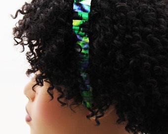 Headband, Natural Hair Headband, Hair Accessories, Hair Jewelry, Natural Hair, Hair Decor,Tropical Forest Fabric Headband