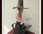 "Giblet EPATTERN 11"" Primitive Turkey Doll"