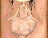 Ballerina Print Pretty Pink Wall Art Little Dancer Ballet Girl