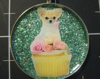 Sweet Little Cupcake Chihuahua Pendant, 50% goes to the current selected animal charity