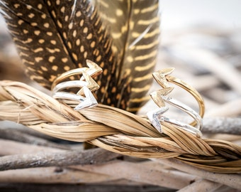 Silver + Gold In Fight Cuff | Nature Inspired | Stacking Cuff