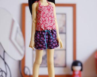 Daisy flower romper playsuit for Slim MSD BJD dolls