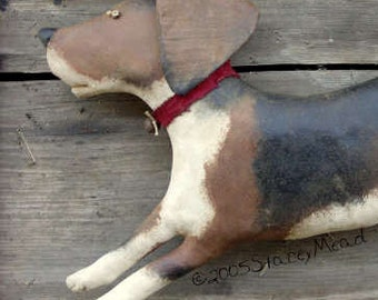 Rosie, A Primitive, Folk Art Dog Pattern, from Raven's Haven